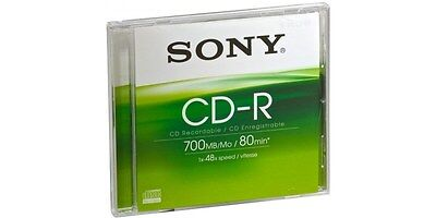 Sony CDQ80SJ CD-R 700MB (80 min) 48x Single Pack