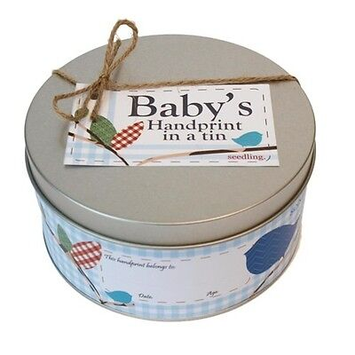 Brand New Seedling Toys Baby's Handprint In A Tin Nursery Gift arts crafts