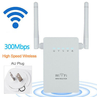 Wireless Repeater 300Mbps Network Router WiFi Signal Range Extender NEW G AU