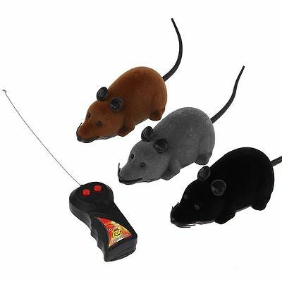 Wireless Remote Control RC Electronic Rat Mouse Mice Toy For Cat Puppy Gift AU