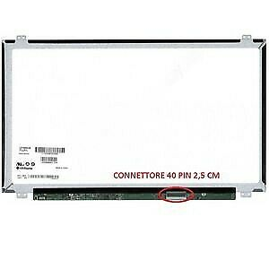 "LTN156AT30-H01 Display LCD Schermo 15,6"" LED Slim 1366x768 40 pin"