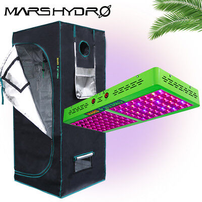 Reflector 96 LED Grow Light+27''×27''×63'' Indoor Grow Room for Plant Greenhouse