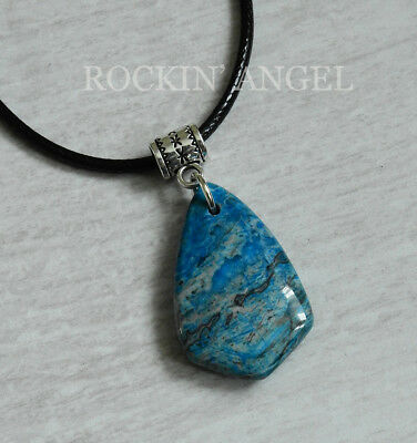 Natural blue crazy lace agate shield pendant necklace reiki healing natural blue crazy lace agate shield pendant necklace reiki healing gift stone aloadofball Image collections