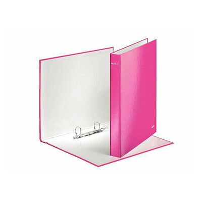 LEITZ WOW A4 PLUS 2 D-RING BINGER / 10 PACK / 25mm / BRIGHT PINK / 42410023
