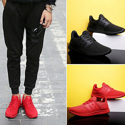 Hot Men's Shoes Pumps Trainers Lace Up Mesh Sports Running Casual Sneakers Gym