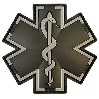 EMT EMS medic paramedic PVC black ACU 3D tactical morale touch fastener patch