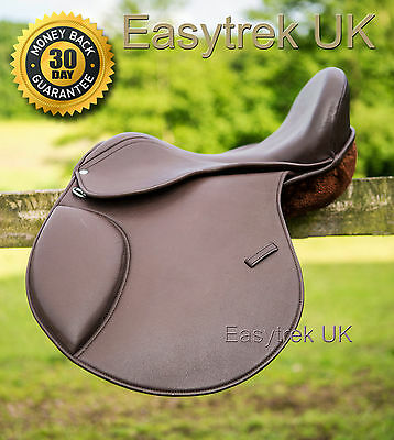 New Easytrek treeless GP brown leather saddle, adjustable narrow - wide fit