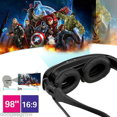 "98"" Side by Side 3D Video Glasses Eyewear Virtual Theater PR IOS+Android phone"