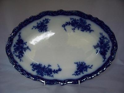 ANTIQUE TOURAINE FLOW BLUE PLATTER BY STANLEY POTTERY Co 1898c ~ NOW 20% OFF