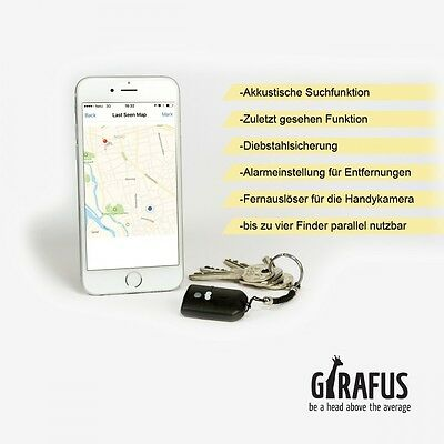 Girafus® Handy-, Key-, Schlüssel-Finder mit App&Karte | iPhone&Android Bluetooth