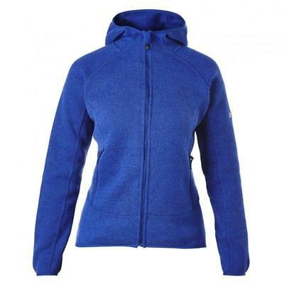 Berghaus Womens Ladies Kinloch Knitted Warm Hooded Fleece Jacket - Blue
