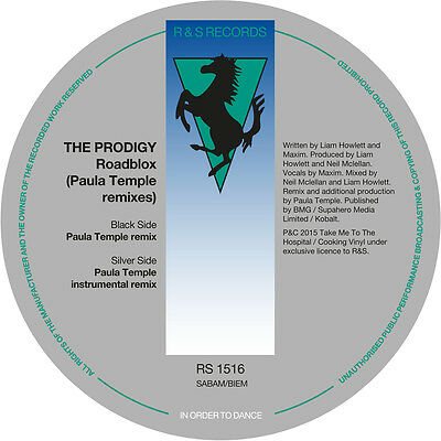 "The Prodigy - Roadblox - Paula Temple Remixes (12"" Vinyl) RS1516 NEU"