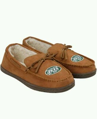 Forever Collectibles NFL NEW New York Jets Mens Moccasins Slippers