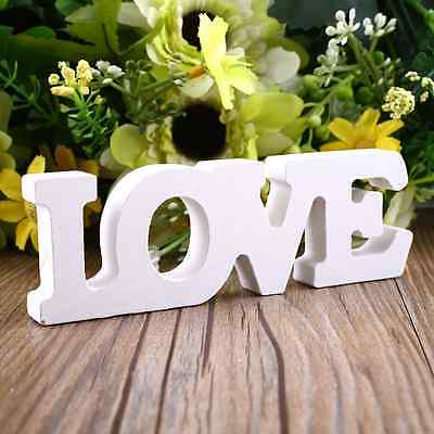 "Wooden Letter Alphabet Word Free Standing Party Home ""LOVE"" Theme Creative"