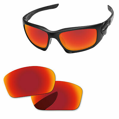 4f1c0aa195 Fire Red Mirror Polarized Replacement Lenses For-Oakley Scalpel Sunglasses