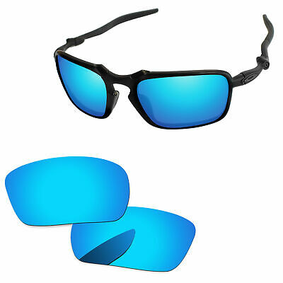 ee46db8c31 PapaViva Ice Blue Mirror Polarized Replacement Lenses For-Oakley Badman  Sunglass