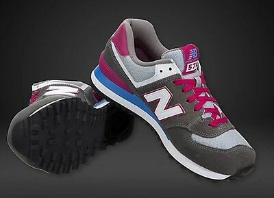 New Balance 574  trainers Grey/white / pink Women/girls  3.5 or 6.5 pumps retro