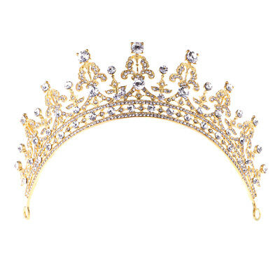 Wedding Jewelry Headpiece Pageant Prom Hair Tiara Crown Rhinestone Headband