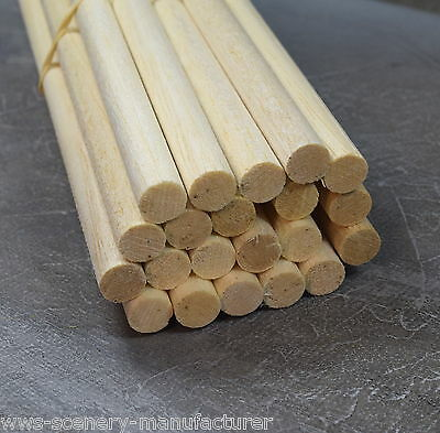 WWS BALSA WOOD DOWEL  13mm (1/2) x 9 lengths of 12 inches (A21)