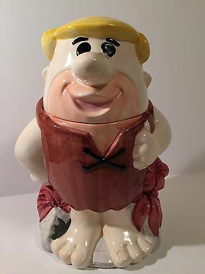 Flintstones Barney Rubble Standing Cookie Jar  App. 11""
