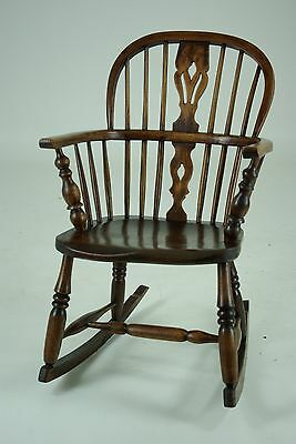 B431 Antique Victorian Windsor Rocking Chair (Small Size)