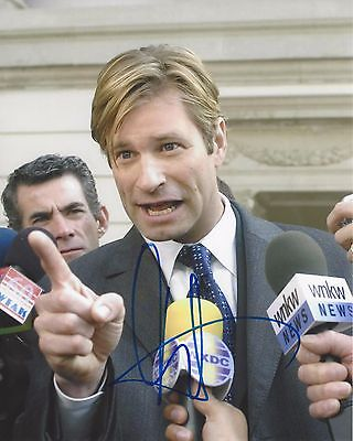 Actor Aaron Eckhart Signed Thank You For Smoking 8X10 Photo W/coa Nick Naylor