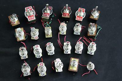 Heavy Duty 2 & 3 Position NOS Vintage Toggle Switch Lot 23 Total NEW - Free S&H!