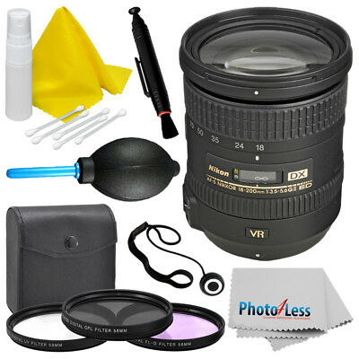 Nikon AF-S DX NIKKOR 18-200mm f/3.5-5.6G VR II Lens Brand New Top Value Bundle!