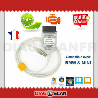 Interface de diagnostic INPA K+DCAN OBD2 pour BMW MINI avec commutateur switch