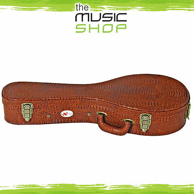 New Xtreme Mandolin Case - Fits 'A' Style Mandolins - Brown Croc Vinyl - HC3085