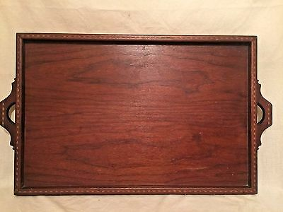 Large Wood Tray - Intricate Border - Signed Tilghman G Pitts Jan 29 1940