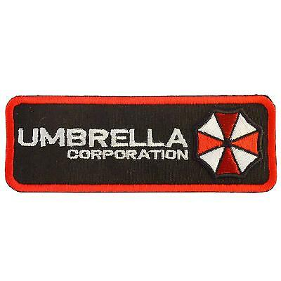 resident evil umbrella corporation embroidered logo hook patch