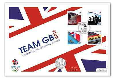 2016 Rio Olympic Summer Games Team Great Britan Commemorative Coin Cover& stamps