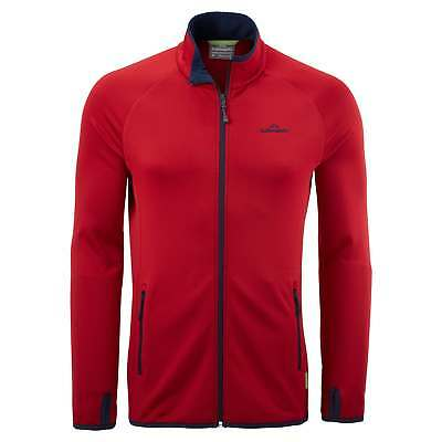 Kathmandu Expedite Mens Full Zip Top Packable Hiking Travel Fleece Jacket Red