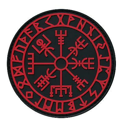 vegvisir viking compass PVC 3D morale tactical asatru norse hook patch