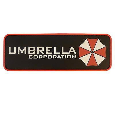 resident evil umbrella corporation PVC 3D rubber tactical touch fastener patch