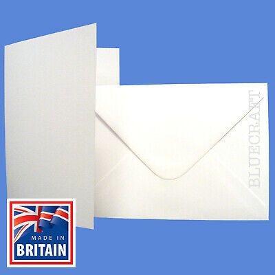 "5 x 7"" Premium White Card Blanks & Envelopes - Pre Creased"