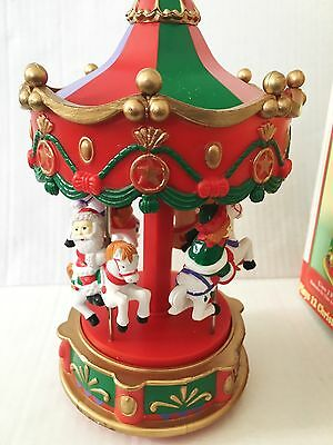 Electronic Carousel Lights Music Plays 12 Christmas Melodies In Harmony Sound Tony 6704