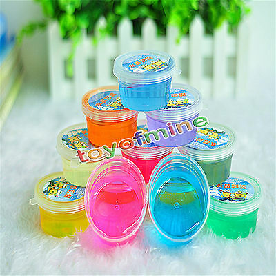 12 Colors Nontoxic Crystal Mud Plasticine Clay Playdough For Kids
