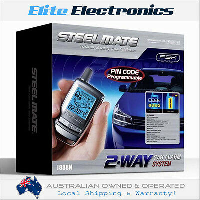 Steelmate 888N 2-Way Lcd Fsk Remote Car Alarm Security System W/ Pin Code
