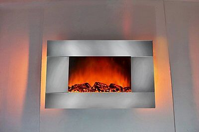 "Golden Vantage GV-510GLB 35"" Electric Fireplace Heater Wall Mount with Remote Co"