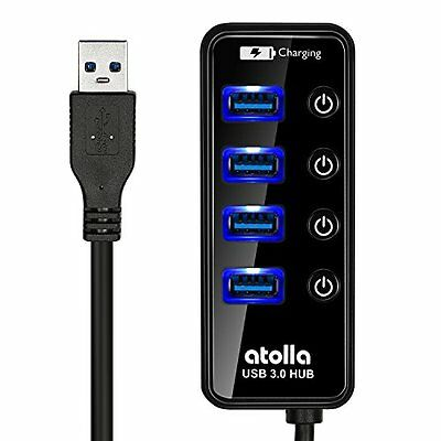 Atolla Data Hub USB 3.0 multiples 4 Ports Multiprise USB SuperSpeed 5Gb/s de ...