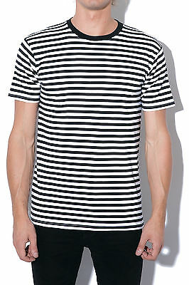 New AS COLOUR Mens Staple Stripe Tee Black/White Most Wanted