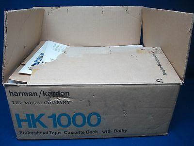 Harman Kardon HK1000 Professional Tape Cassette with Dolby