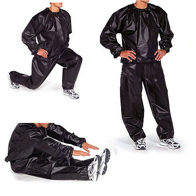 Heavy Duty Sweat Sauna Suit Gym Exercise Training Fitness Weight Loss Anti-Rip B