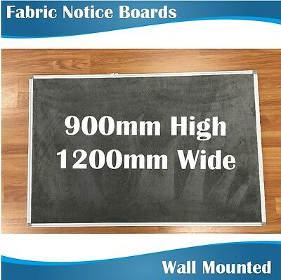 Fabric pinboard pinboards noticeboards corkboards 900mm highx1200mm wide