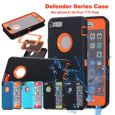 Apple iPhone XS Max X 6s 7 8 Plus Armor Hybrid Shockproof Heavy Duty Hard Case