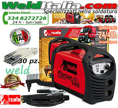 SALDATRICE INVERTER TELWIN FORCE 145 230V cod. 815873 + ACCESSORI E VAL. CARTONE