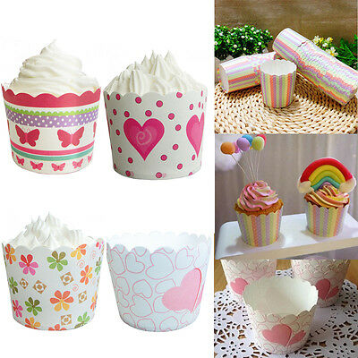 50 x Paper Cake Cup Liners Baking Cupcake Cases Muffin Dessert Cake Decorating