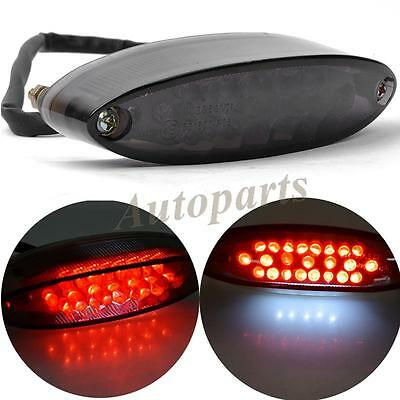 Universal Motorcycle Motorbike 28 Led Rear Tail Brake Stop Light Number Plate At